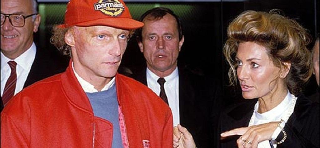 Marlene Knaus with Niki Lauda