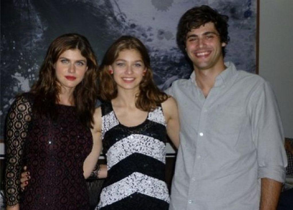 Catharine with Alexandra and Matthew Daddario