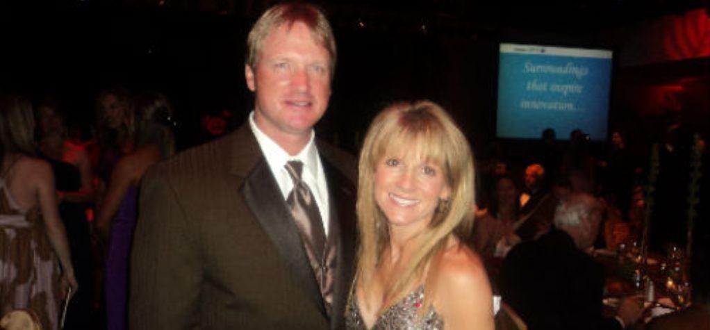 Cindy with husband Jon Gruden