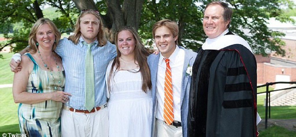 Debby Belichick with her family