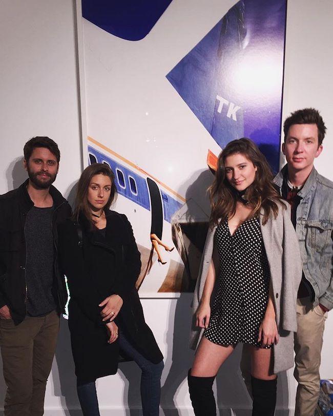 Elizabeth Elam with her friends