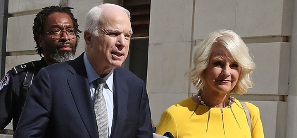 Cindy Hensley McCain with husband