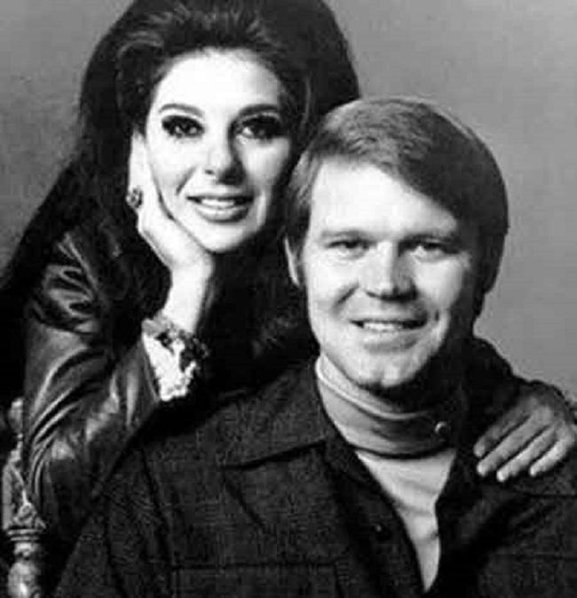 Sarah Brag with her ex-husband Glen Campbell