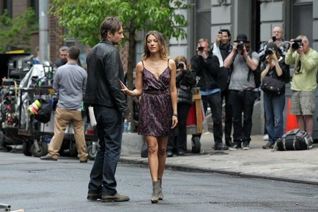 David Duchovny Films 'Californication' in NYC