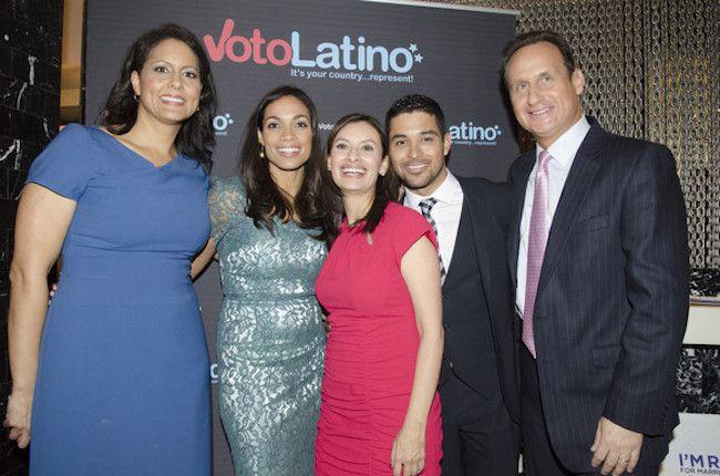 Rosario Dawson, Wilmer Valderrama, Maria Teresa Kumar, Karen Finney, Jose Diaz Balart