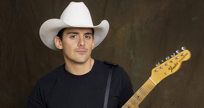 Brad Paisley with his guitar
