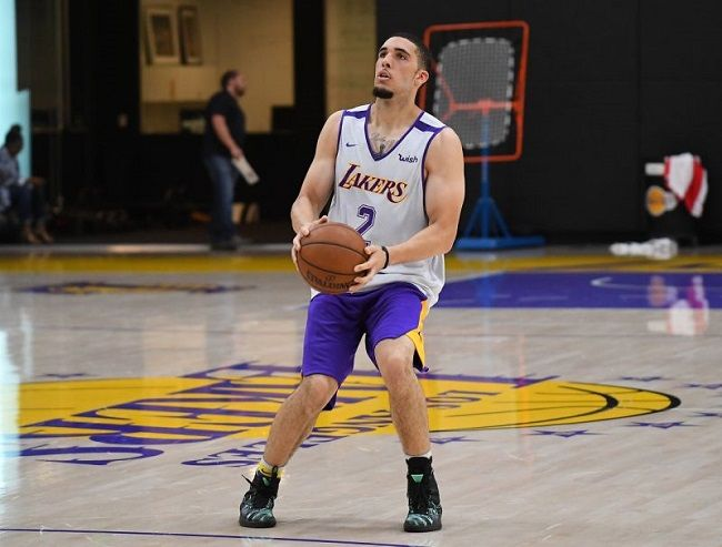 LiAngelo Ball playing basketball