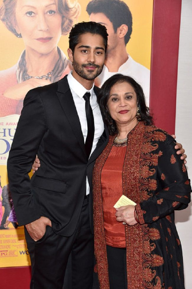 Manish with his mother