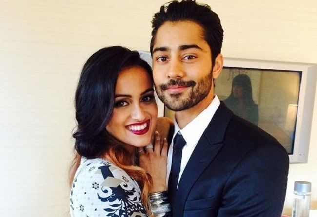 Manish with his wife