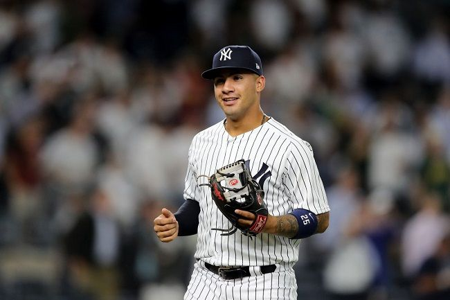 Torres playing for the Yankees