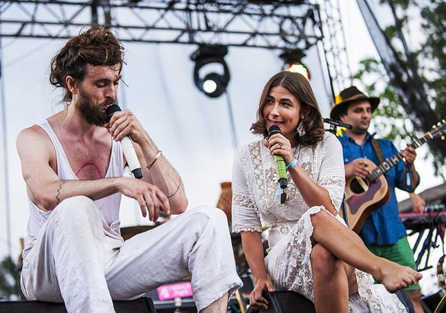 Jade Castrous with Edward Sharpe