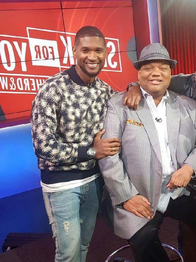Jason with Usher
