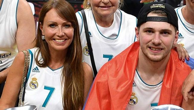 Luka with his mom