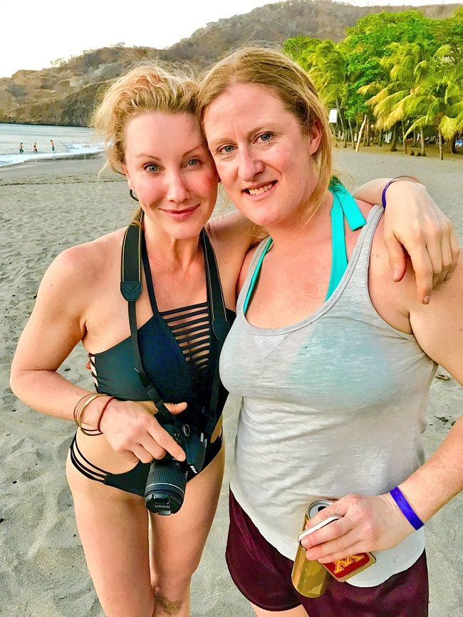 Amy Matthews with a friend