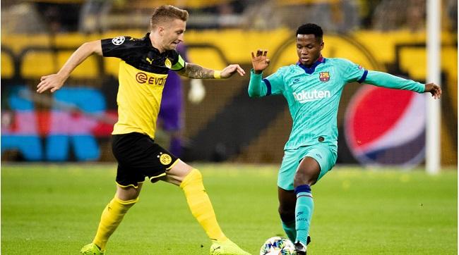 Ansu Fati against FC Dortmund
