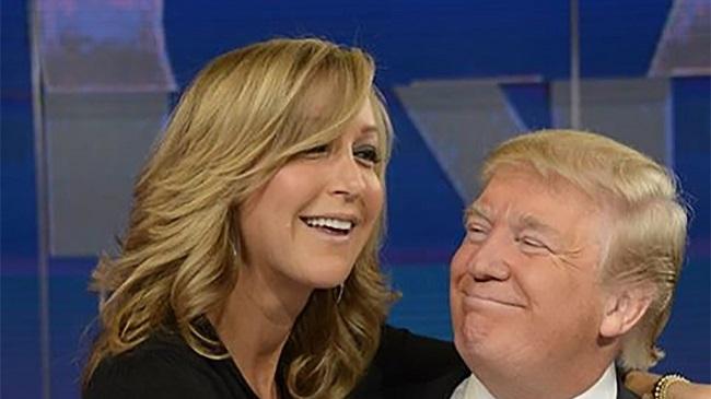 Lara Spencer and Donald Trump