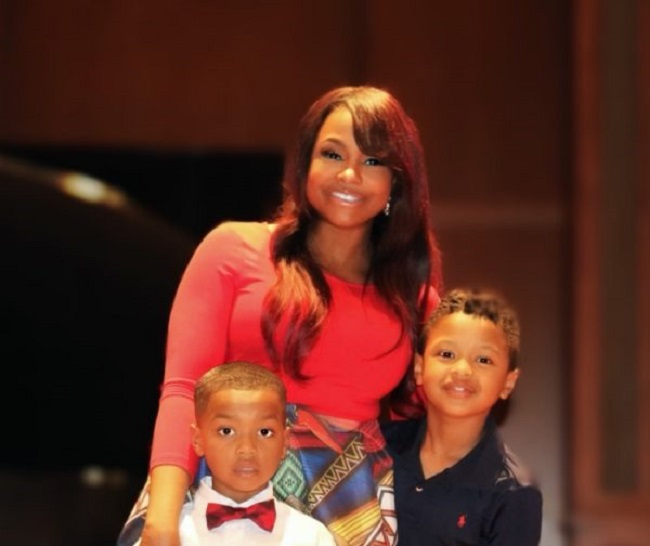 Phaedra Parks with her children
