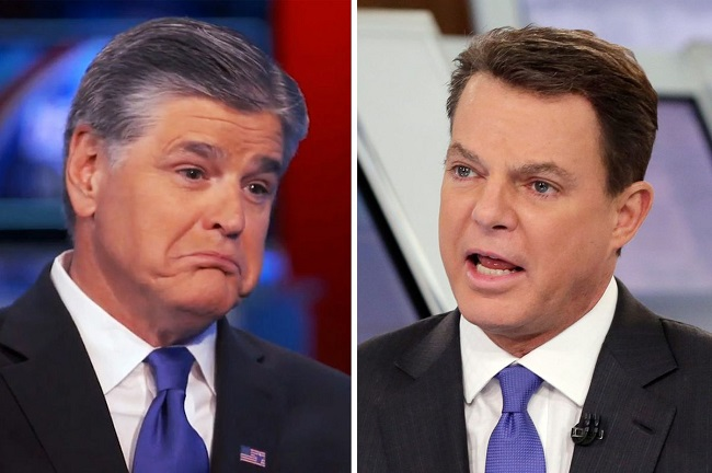 Shepard Smith, Sean Hannity trade insults