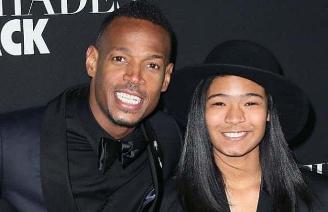 Marlon Wayans and his daughter