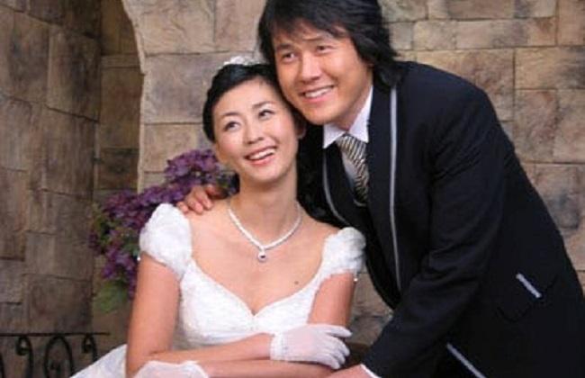 Miki Yim and her husband