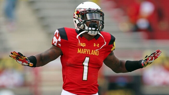 Stefon Diggs representing Maryland