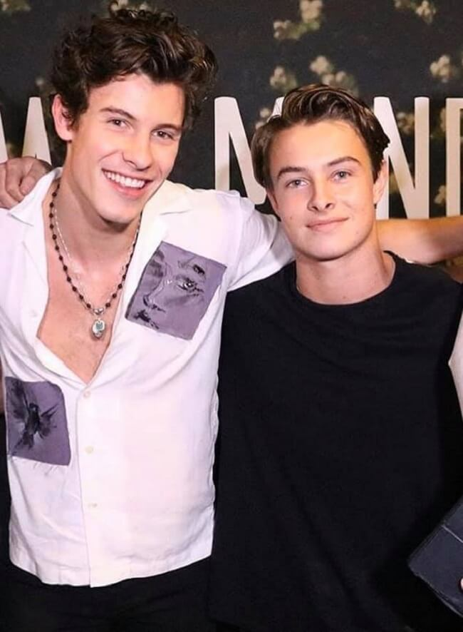connor with shawn mendes