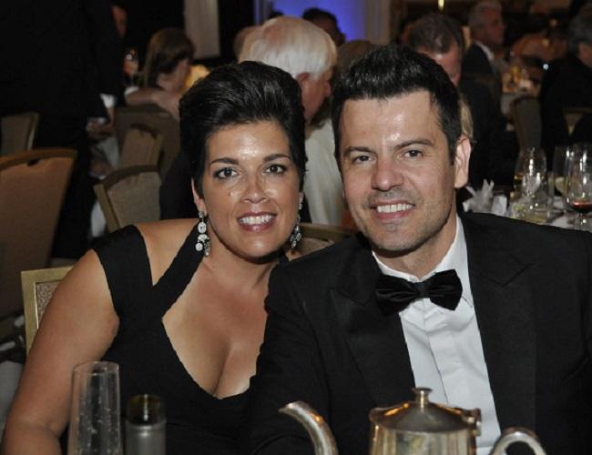 Jordan Knight and Evelyn Melendez