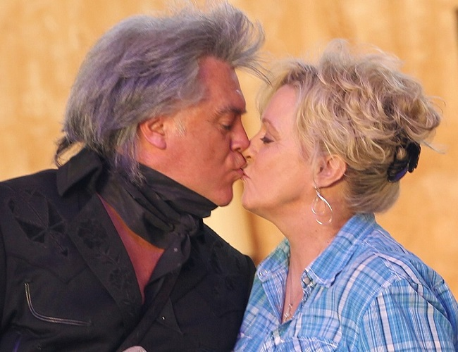 Marty Stuart and his wife