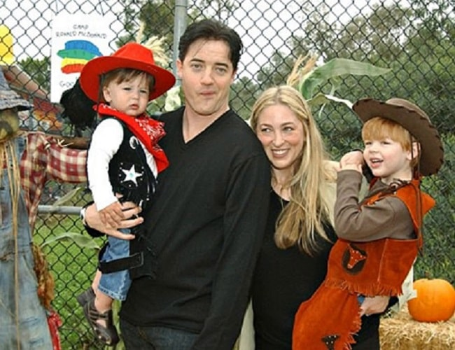Afton Smith and Brendan Fraser