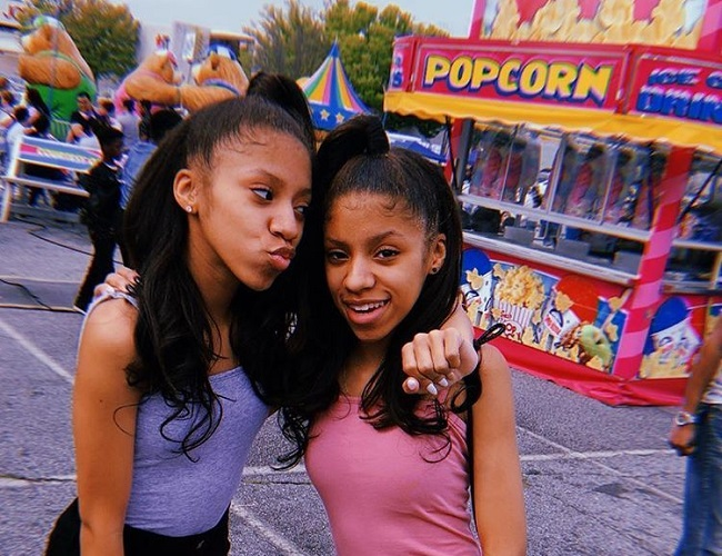 Solai Wicker and her twin sister