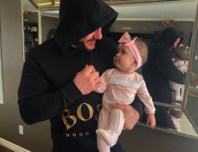 Jay Bertin and his daughter, Valentina