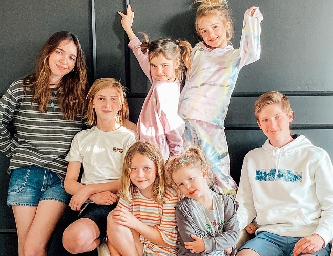 Mila Stauffer and her family
