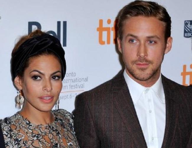 Eva Mendes and her boyfriend, Ryan Gosling