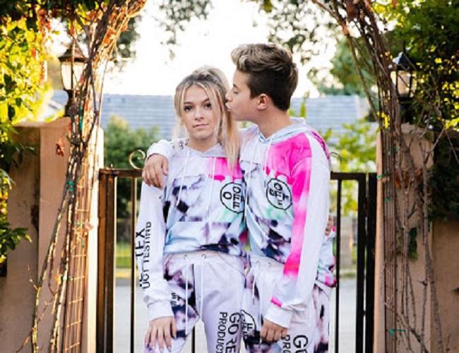 Gavin Magnus and his girlfriend