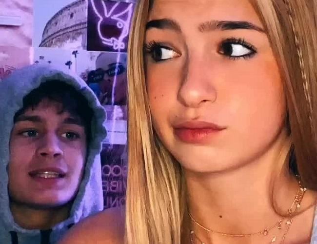 Issey Moloney and her boyfriend