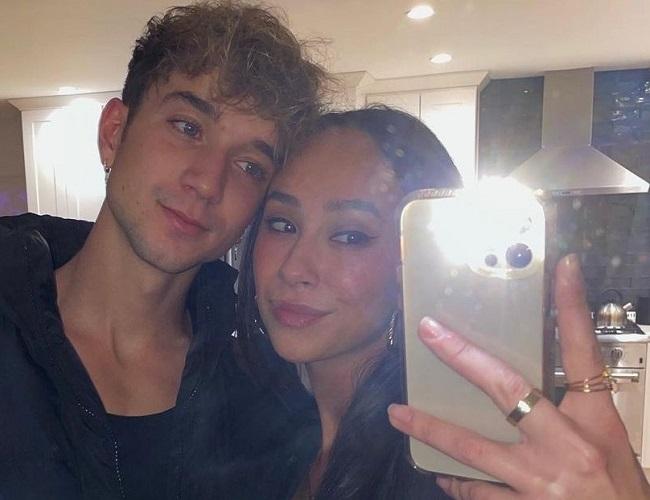 Franny Arrieta and her boyfriend