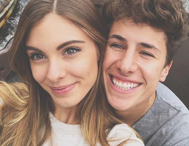 Juanpa Zurita and his girlfriend
